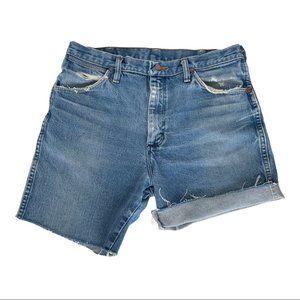 Wrangler Blue Denim High Rise Jean Shorts 30